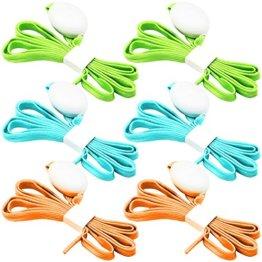 3 Pack Light Schnürsenkel, FineGood Nylon Schuhe Schnürsenkel mit vier blinkenden Modi für Tanzen Hip-Hop Radfahren Laufen Wandern Skating Sport - Blau, Orange, Grün - 1