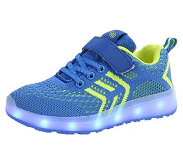 Aidonger Unisex Kinder LED Schuhe 7 Farbe Farbwechsel -