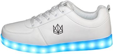 innovative design f38b5 1552c CROWN Classic White LED Schuhe Unisex