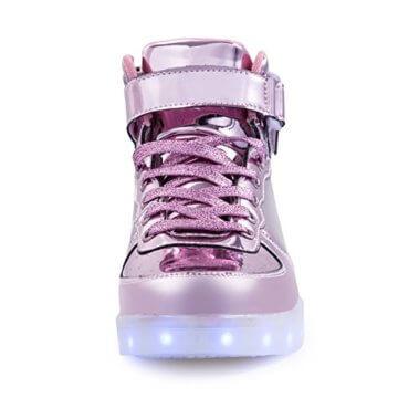 FLARUT 7 Farbe USB Aufladen LED Leuchtend Leuchtschuhe Blinkschuhe Sport Schuhe für Jungen Mädchen Kinder(35 EU,Rosa) - 3