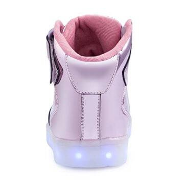FLARUT 7 Farbe USB Aufladen LED Leuchtend Leuchtschuhe Blinkschuhe Sport Schuhe für Jungen Mädchen Kinder(35 EU,Rosa) - 4