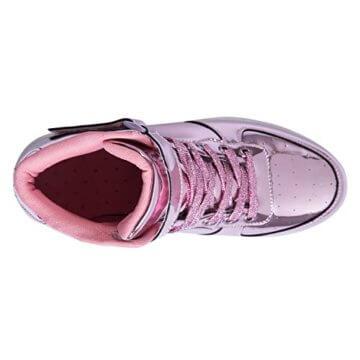 FLARUT 7 Farbe USB Aufladen LED Leuchtend Leuchtschuhe Blinkschuhe Sport Schuhe für Jungen Mädchen Kinder(35 EU,Rosa) - 5