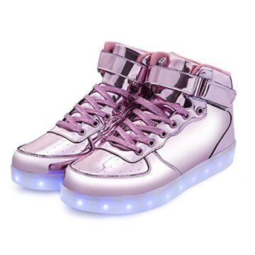 FLARUT 7 Farbe USB Aufladen LED Leuchtend Leuchtschuhe Blinkschuhe Sport Schuhe für Jungen Mädchen Kinder(35 EU,Rosa) - 7