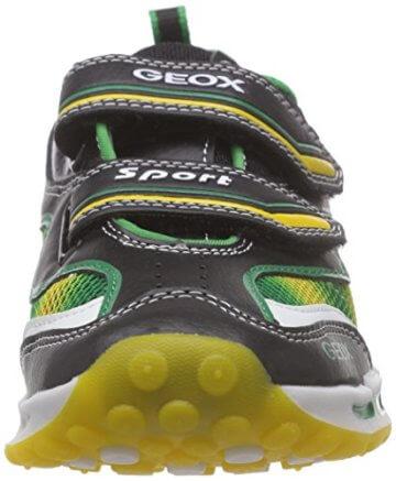 Geox J SHUTTLE BOY A, Jungen Sneakers, Mehrfarbig (BLACK/YELLOWC0054), 24 EU - 4