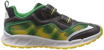 Geox J SHUTTLE BOY A, Jungen Sneakers, Mehrfarbig (BLACK/YELLOWC0054), 24 EU - 6
