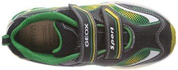 Geox J SHUTTLE BOY A, Jungen Sneakers, Mehrfarbig (BLACK/YELLOWC0054), 24 EU - 7