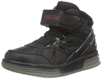 Geox Jungen J Argonat Boy C High-Top, Schwarz (Black/REDC0048), 24 EU - 1