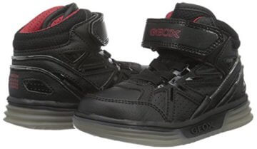 Geox Jungen J Argonat Boy C High-Top, Schwarz (Black/REDC0048), 24 EU - 5
