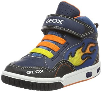 Geox Jungen JR Gregg A High-Top, Blau (Navy/ORANGEC0659), 24 EU - 1