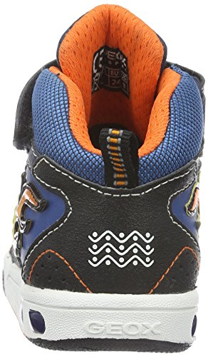 Geox Jungen JR Gregg A High-Top, Blau (Navy/ORANGEC0659), 24 EU - 2
