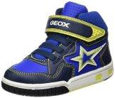 Geox Jungen JR Gregg A Hohe Sneaker, Blau (Navy/Lime), 27 EU - 1