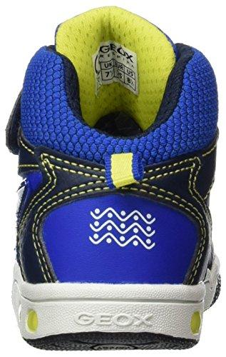 Geox Jungen JR Gregg A Hohe Sneaker, Blau (Navy/Lime), 27 EU - 2