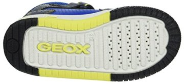 Geox Jungen JR Gregg A Hohe Sneaker, Blau (Navy/Lime), 27 EU - 3