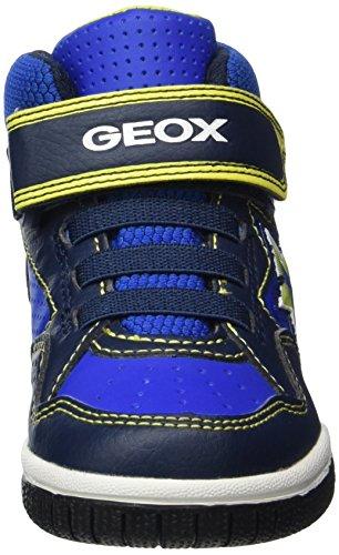 Geox Jungen JR Gregg A Hohe Sneaker, Blau (Navy/Lime), 27 EU - 4