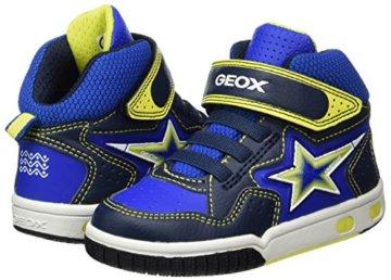 Geox Jungen JR Gregg A Hohe Sneaker, Blau (Navy/Lime), 27 EU - 5