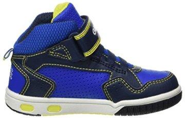 Geox Jungen JR Gregg A Hohe Sneaker, Blau (Navy/Lime), 27 EU - 6