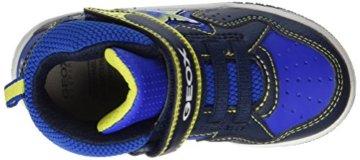 Geox Jungen JR Gregg A Hohe Sneaker, Blau (Navy/Lime), 27 EU - 7