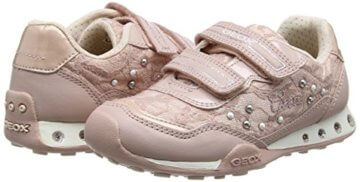 Geox Mädchen JR New Jocker Girl B Low-Top, Pink (Dk Rosec8007), 36 EU - 5