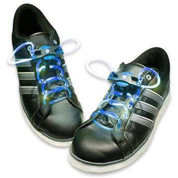 HyCell leuchtende LED-Schnürsenkel 80cm LED-Schuhbendel leuchten in blau, grün, pink oder rot (Für 1 Paar Schuhe) - 2