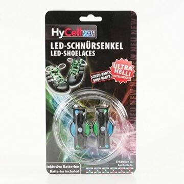 HyCell leuchtende LED-Schnürsenkel 80cm LED-Schuhbendel leuchten in blau, grün, pink oder rot (Für 1 Paar Schuhe) - 11