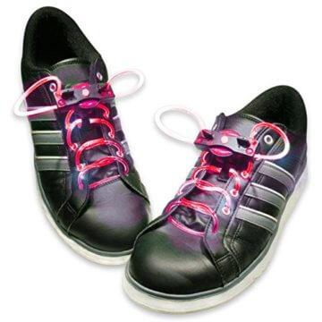 HyCell leuchtende LED-Schnürsenkel 80cm LED-Schuhbendel leuchten in blau, grün, pink oder rot (Für 1 Paar Schuhe) - 4