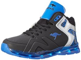KangaROOS Unisex-Kinder K-Lev VI HI LED High-Top, Mehrfarbig (Black/Royal), 28 EU - 1