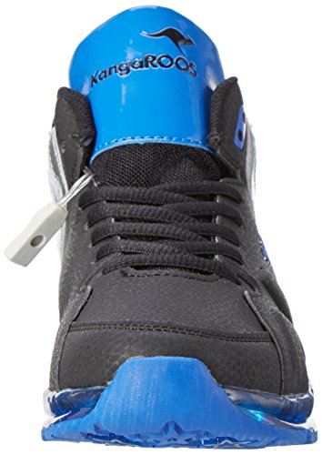 KangaROOS Unisex-Kinder K-Lev VI HI LED High-Top, Mehrfarbig (Black/Royal), 28 EU - 4
