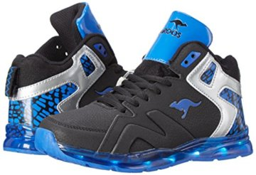 KangaROOS Unisex-Kinder K-Lev VI HI LED High-Top, Mehrfarbig (Black/Royal), 28 EU - 5