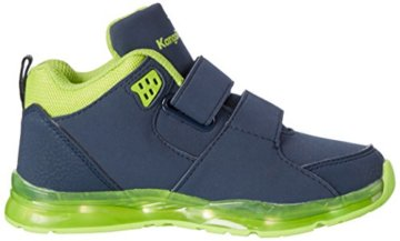 KangaROOS Unisex-Kinder K-Lev VII LED High-Top, Mehrfarbig (Dk Navy/Lime), 34 EU - 6