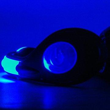 LAUFZUBEHÖR +++ 2 x LED Schuhclip +++ wiederaufladbar +++ Reflektor +++ LED Leuchtschuhe +++ Sicherheitslicht Joggen Radfahren Sport +++ Jogginglicht +++ Beleuchtung Jogging Radfahren +++ Leuchtband, Farbe:Blau - 6