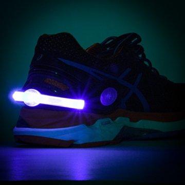 LAUFZUBEHÖR +++ 2 x LED Schuhclip +++ wiederaufladbar +++ Reflektor +++ LED Leuchtschuhe +++ Sicherheitslicht Joggen Radfahren Sport +++ Jogginglicht +++ Beleuchtung Jogging Radfahren +++ Leuchtband, Farbe:Blau - 7