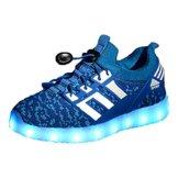 LED leuchtende bunte Sneaker Turnschuhe Unisex Kinder Jungen Mädchen USB Auflade Sportschuhe leichte Schuhe 1832 Blau 27 - 1