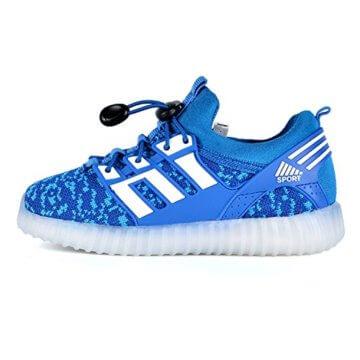LED leuchtende bunte Sneaker Turnschuhe Unisex Kinder Jungen Mädchen USB Auflade Sportschuhe leichte Schuhe 1832 Blau 27 - 3