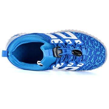 LED leuchtende bunte Sneaker Turnschuhe Unisex Kinder Jungen Mädchen USB Auflade Sportschuhe leichte Schuhe 1832 Blau 27 - 4