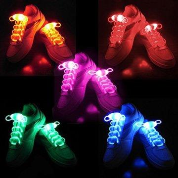 LED Schnürsenkel 10st Glowing Flash LED Blinklicht Leuchte Schuhbänder Schnürsenkel für Hip-hop Tanzen Party Disco Karneval Fashing - 2
