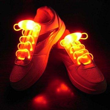 LED Schnürsenkel 10st Glowing Flash LED Blinklicht Leuchte Schuhbänder Schnürsenkel für Hip-hop Tanzen Party Disco Karneval Fashing - 3