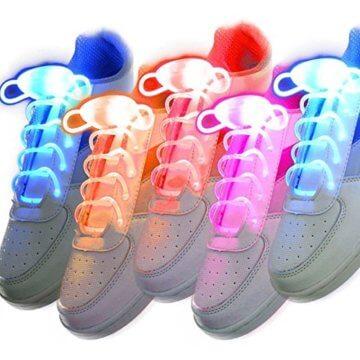 LED Schnürsenkel 10st Glowing Flash LED Blinklicht Leuchte Schuhbänder Schnürsenkel für Hip-hop Tanzen Party Disco Karneval Fashing - 1