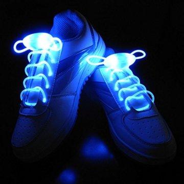 LED Schnürsenkel 10st Glowing Flash LED Blinklicht Leuchte Schuhbänder Schnürsenkel für Hip-hop Tanzen Party Disco Karneval Fashing - 5