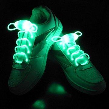 LED Schnürsenkel 10st Glowing Flash LED Blinklicht Leuchte Schuhbänder Schnürsenkel für Hip-hop Tanzen Party Disco Karneval Fashing - 6