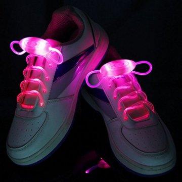 LED Schnürsenkel 10st Glowing Flash LED Blinklicht Leuchte Schuhbänder Schnürsenkel für Hip-hop Tanzen Party Disco Karneval Fashing - 7