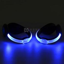 LED-Schuhclip / Sicherheitslicht, vielseitig verwendbar, sportliches Design, wiederaufladbar per USB-Kabel, wasserdicht, mit leuchtstarken LEDs für erhöhte Sichtbarkeit, 60 Stunden Betriebsdauer, 2 Stück, grün, 1 Pair - 1