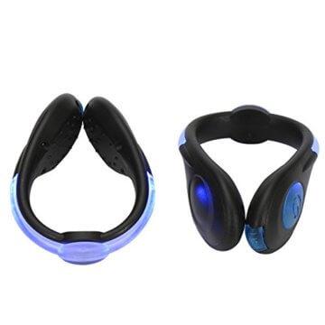 LED-Schuhclip / Sicherheitslicht, vielseitig verwendbar, sportliches Design, wiederaufladbar per USB-Kabel, wasserdicht, mit leuchtstarken LEDs für erhöhte Sichtbarkeit, 60 Stunden Betriebsdauer, 2 Stück, grün, 1 Pair - 6