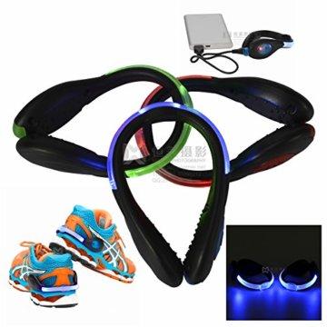 LED-Schuhclip / Sicherheitslicht, vielseitig verwendbar, sportliches Design, wiederaufladbar per USB-Kabel, wasserdicht, mit leuchtstarken LEDs für erhöhte Sichtbarkeit, 60 Stunden Betriebsdauer, 2 Stück, grün, 1 Pair - 7