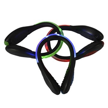 LED-Schuhclip / Sicherheitslicht, vielseitig verwendbar, sportliches Design, wiederaufladbar per USB-Kabel, wasserdicht, mit leuchtstarken LEDs für erhöhte Sichtbarkeit, 60 Stunden Betriebsdauer, 2 Stück, grün, 1 Pair - 8
