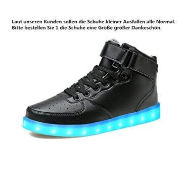 LeKuni Unisex LED Schuhe Leuchtschuhe 2017 Verbesserung 7 Farbe Blinkende Leuchtende Light Up High Top Sneakers(36,Schwarz) - 2