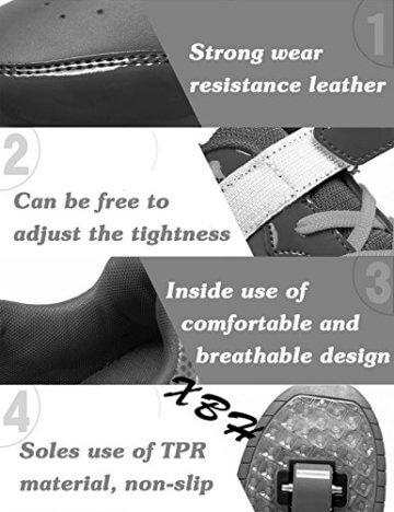 Mr.Ang Skateboard Schuhe mit LED 7 Farbe Farbwechsel Lichter blinken Räder SchuheTurnschuhe Jungen und Mädchen Flügel-Art Rollen Verstellbare neutral Kuli Rollschuh Schuhe - 6