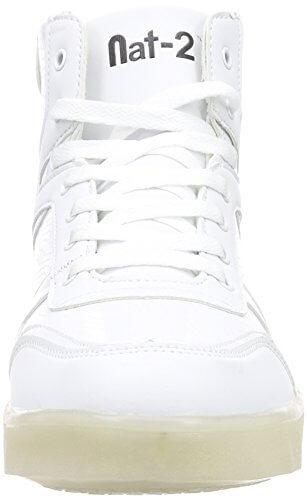 Nat-2 LED Basket, Unisex-Erwachsene Hohe Sneakers, Weiß (white), 41 EU (7.5 Erwachsene UK) - 4