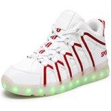 O&N LED Schuh USB Aufladen 7 Farbe Leuchtend SportSchuhe Sneakers Turnschuhe Freizeit Schuhe fuer Unisex-Erwachsene Herren Damen Kinder - 1