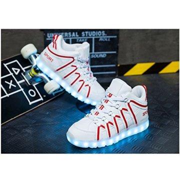 O&N LED Schuh USB Aufladen 7 Farbe Leuchtend SportSchuhe Sneakers Turnschuhe Freizeit Schuhe fuer Unisex-Erwachsene Herren Damen Kinder - 3