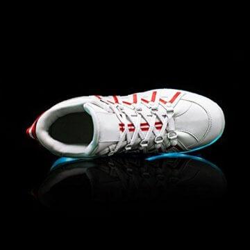 O&N LED Schuh USB Aufladen 7 Farbe Leuchtend SportSchuhe Sneakers Turnschuhe Freizeit Schuhe fuer Unisex-Erwachsene Herren Damen Kinder - 4
